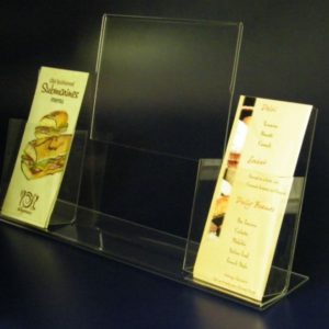 41-Slant Back Sign Holder With 2 Brochure Holders 2.1