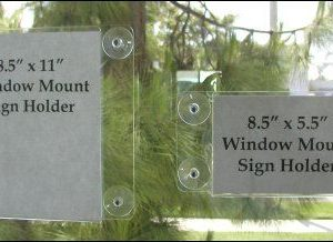 57-Window mount sign holders